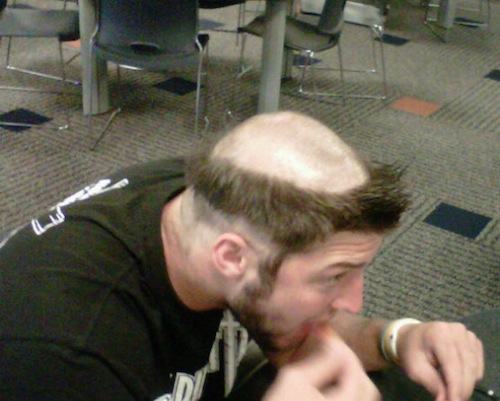 tebow haircut