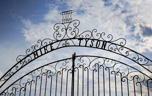 Inside Mike Tyson's Abandoned Mansion gate