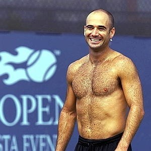 Andre Agassi, who admitted to doing meth