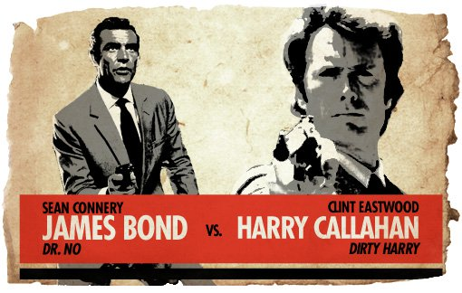 Ultimate Action-Hero Showdown: James Bond vs. Dirty Harry