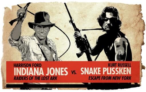 Ultimate Action-Hero Showdown: Indiana Jones vs. Snake Plissken