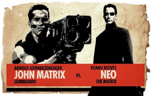 Action Hero Showdown Matrix vs. Neo