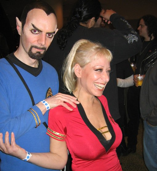 Creepy Trekkie with female Trekkie
