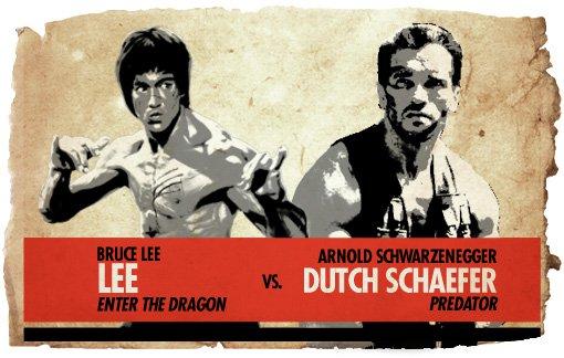 Ultimate Action Hero Showdown: Lee vs. Arnold
