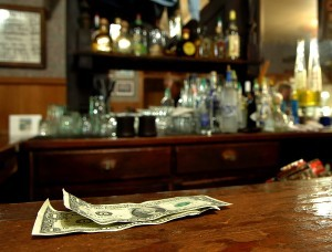 bigstock Tip Money On The Bar 1668540