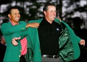 Green jacket at the Masters