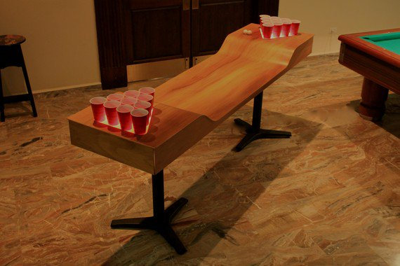 Finally A Custom Beer Pong Table That S Classy Modern Man