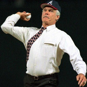 Ted Turner throwing out the first pitch