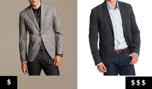 how to pick out a men's blazer buttons