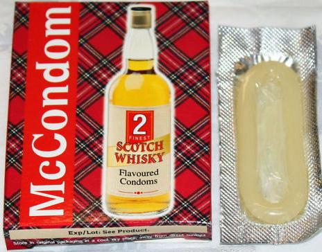 weird condoms you can actually buy whiskey flavoured
