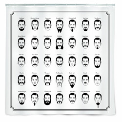 shower curtains that aren't lame mustaches