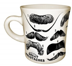 cool coffee mug moustache