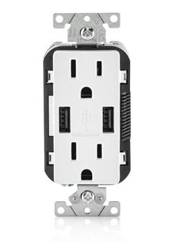 usb levitron wall socket 15 amp