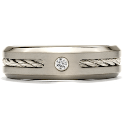 best wedding bands for men, hearts