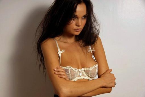 Allie Crandell white bra