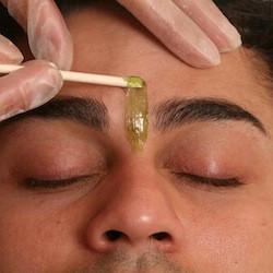 mens hair waxing, brow wax