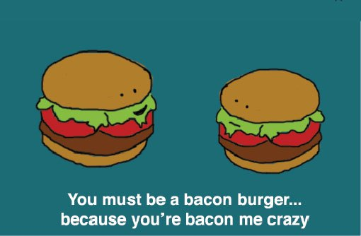 burger The Funniest Pick Up Lines