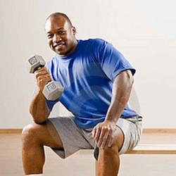 best workouts for men, dumbbells