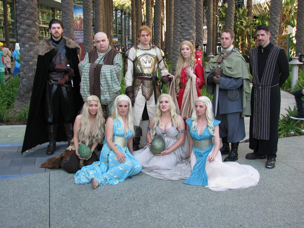comic con game of throens cosplay