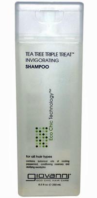 Giovanni Tea Tree Triple Treat Invigorating Shampoo oily hair