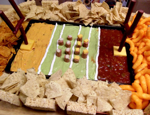 10 Amazing Super Bowl Stadiums …Made Out Of Food dip