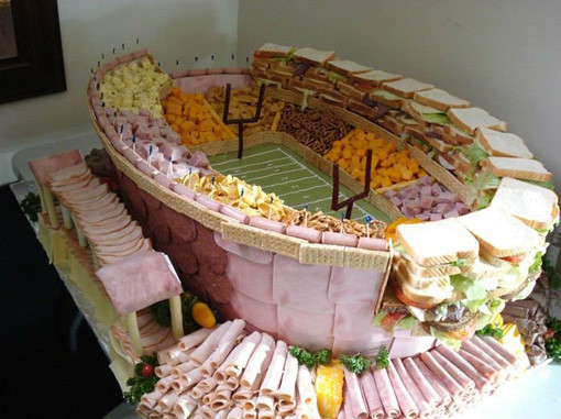 10 Amazing Super Bowl Stadiums … Made Out Of Food meat
