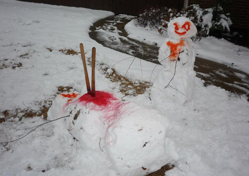 16 Pictures of Dead, Dying, Or Mutilated Snowmen   ModernMan.com