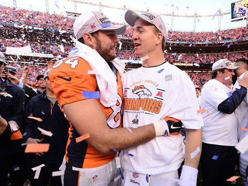 What is Peyton Manning Thinking hug