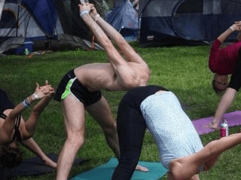 funny yoga photo
