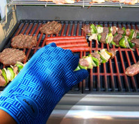 kogrips Silicone BBQ Gloves oven mitt for men