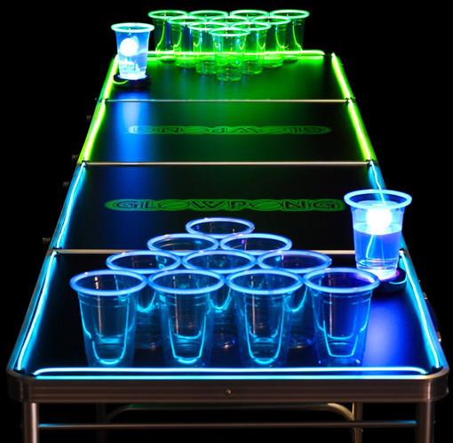 glowpong beer pong table