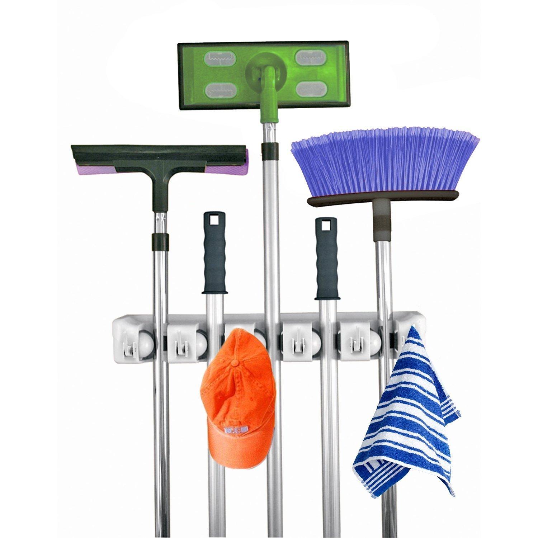 how to get organized broom closet
