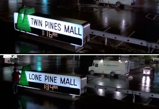 lone pine mall back to the future facts