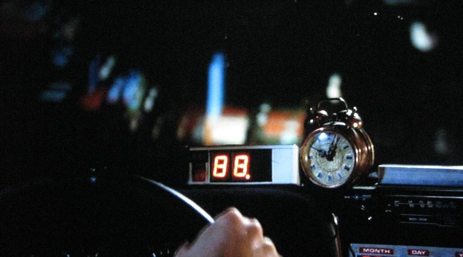 88 mph back to future