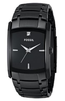 Fossil black analog watch