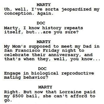 back to the future script draft san francisco