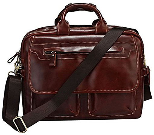 Blueblue sky leather briefcase for men