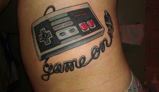 nintendo controller tattoo