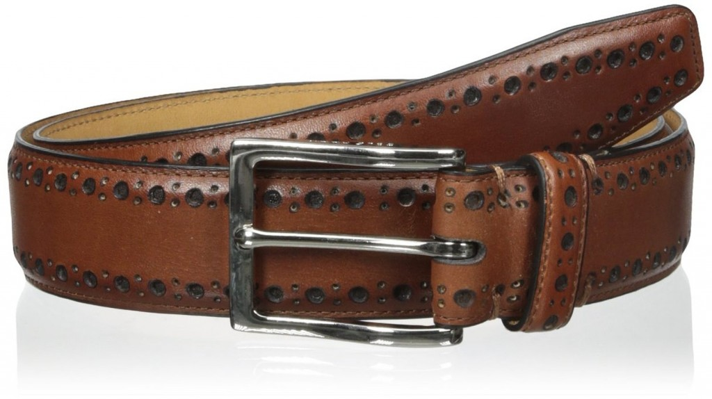 Cole Haan Men's 35mm Feather Edge Stitched Belt for men