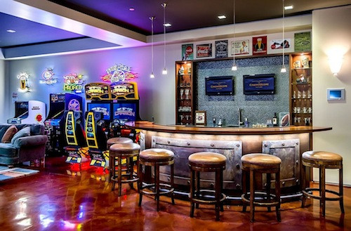 cool game room for guys