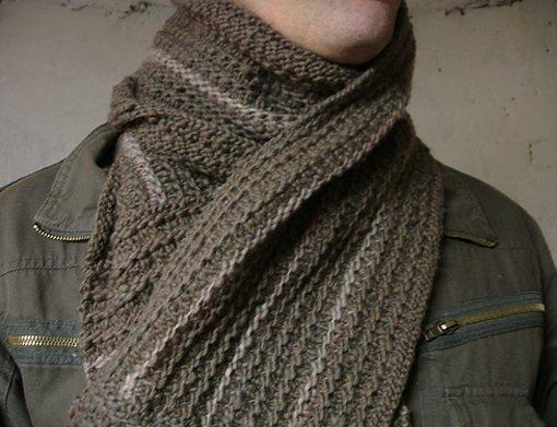 wear a scarf like a man