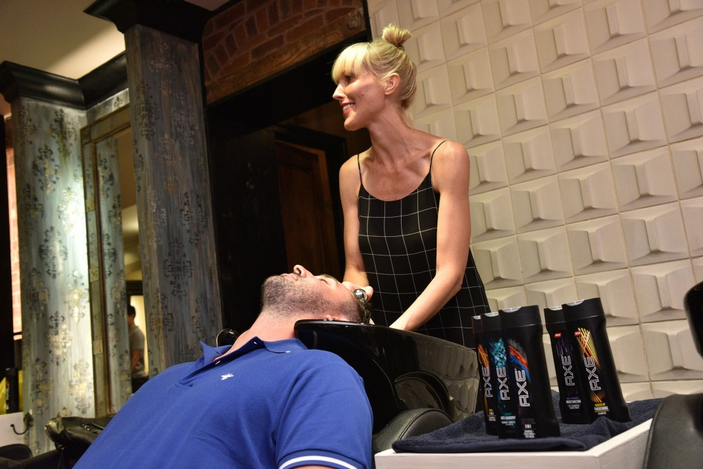 Axe Event in NYC shampoo