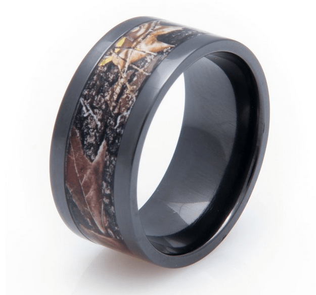 best wedding bands for men Black Mossy Oak