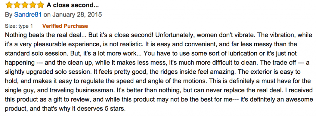 sex toy review amazon