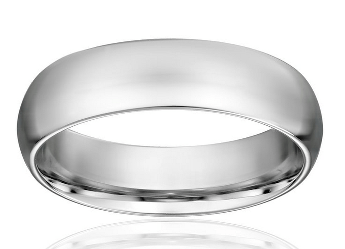 best wedding bands for men platinum comfort-fit