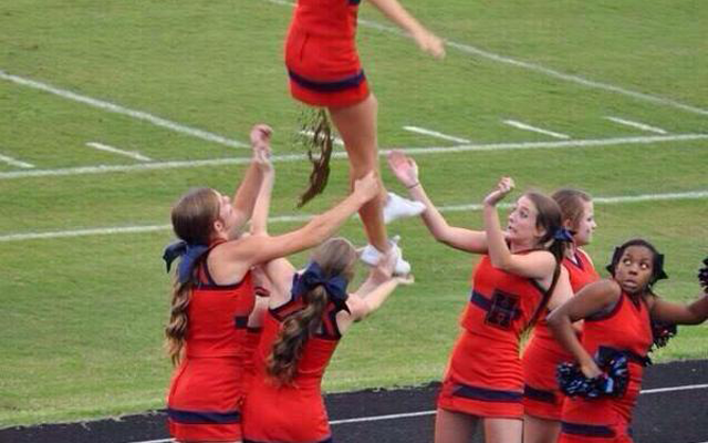 cheerleaders Who Should Probably Quit face of a fall