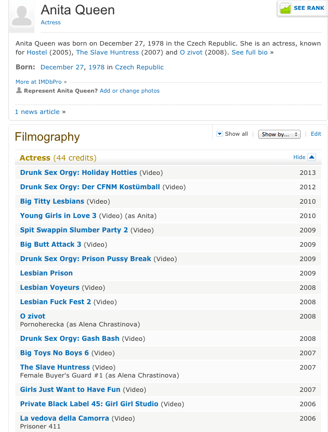 anita queen filmography