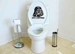 Star Wars Inspired Parody Sith Happens Toilet Vinyl Decal