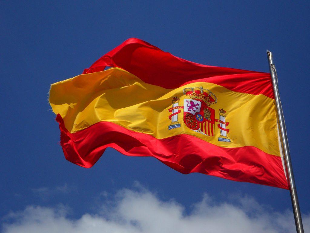 flagpole spain spanish 54097