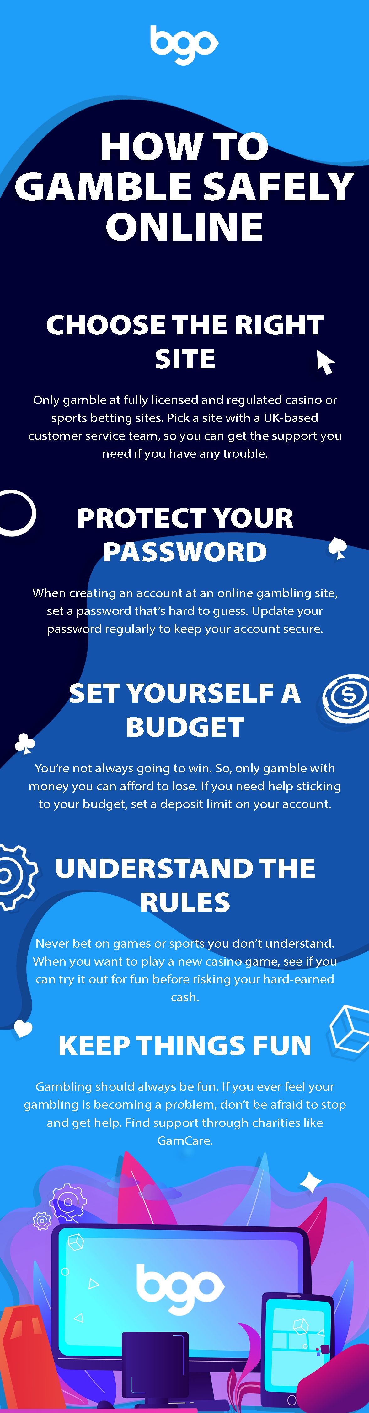 How to gamble safely online infographic